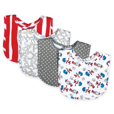 Trend Lab® 4-Pack Dr. Seuss™ Cat and Things Bouquet Bib Set