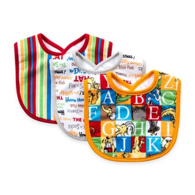 Trend Lab® 3-Pack Dr.Seuss™ Alphabet Bib Set