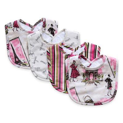 Trend Lab® Waverly® 4-Pack Tres Chic Bouquet Bib Set