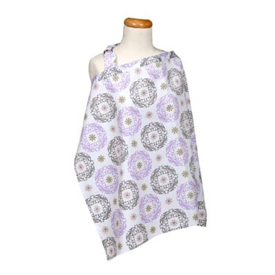 Trend Lab® Florence Nursing Cover in Lilac/Grey