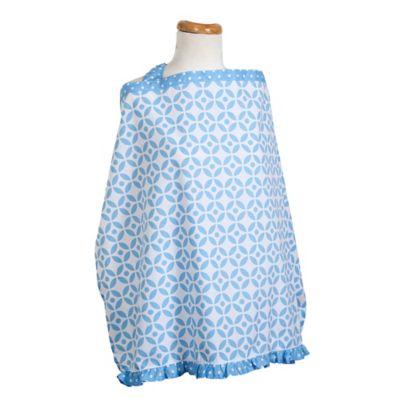 Trend Lab® Logan Lattice Nursing Cover in Blue