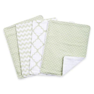 Trend Lab® 4-Pack Sea Foam Burp Cloth Set