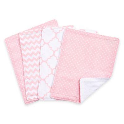 Trend Lab® 4-Pack Pink Sky Burp Cloth Set