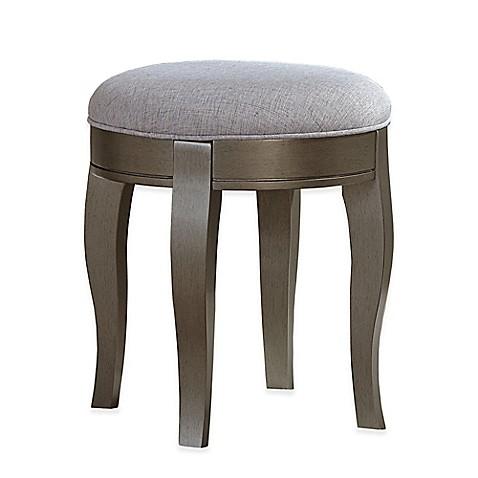 Buy kensington vanity stool in antique silver brown from bed bath beyond - Antique vanity stools ...
