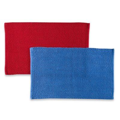 Popcorn Chenille 33-Inch x 20-Inch Bath Rug in Blue