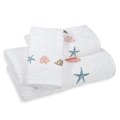 India Ink™ Depoe Bay Bath Towel in Aqua