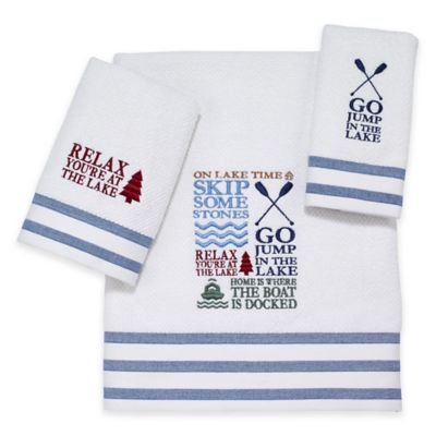 Avanti Lake Words Hand Towel