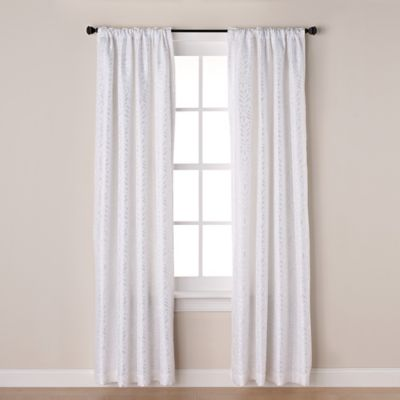 Westchester 63-Inch Room-Darkening Rod Pocket/Back Tab Window Curtain Panel in White