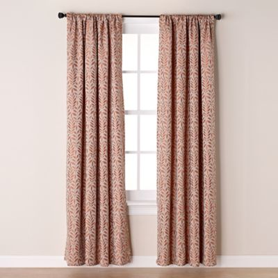Westchester 63-Inch Room-Darkening Rod Pocket/Back Tab Window Curtain Panel in Spice
