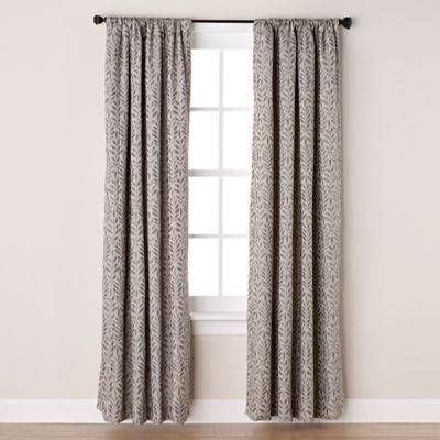 Westchester 95-Inch Room-Darkening Rod Pocket/Back Tab Window Curtain Panel in Grey