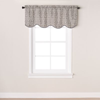 Westchester Scalloped Window Valance in Grey