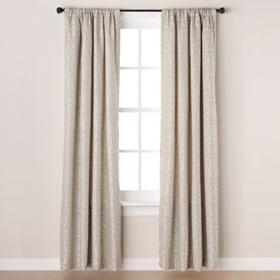 Westchester 63-Inch Room-Darkening Rod Pocket/Back Tab Window Curtain Panel in Beige