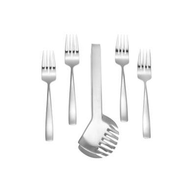 Yamazaki® Bolo 5-Piece Salad Fork and Tong Set