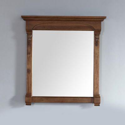 James Martin Furniture Brookfield 39.5-Inch Mirror in Country Oak