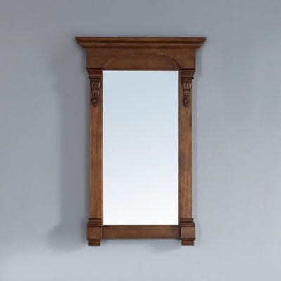 James Martin Furniture Brookfield 26-Inch Rectangular Mirror in Country Oak
