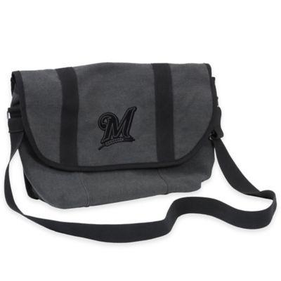 MLB Milwaukee Brewers Varsity Messenger Bag