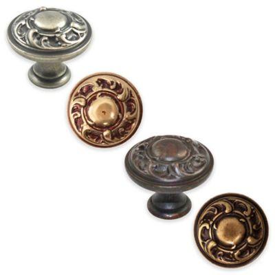Bosetti Marella Louis XV Round Knob in Bronze