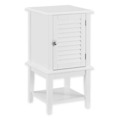Shutter Bath Cabinet in White