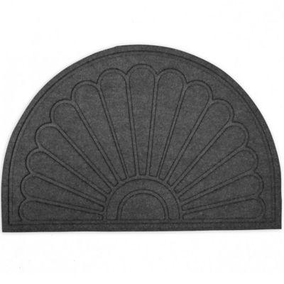 Aqua Brush Sunburst 24-Inch x 36-Inch Door Mat in Grey