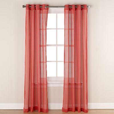 Chloe Net 63-Inch Grommet Top Window Curtain Panel in Aqua