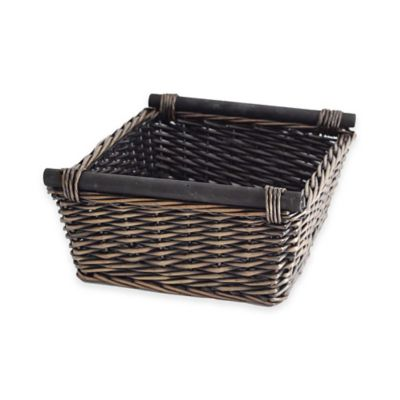 Lancaster Rectangular Willow Tray in Black/Brown
