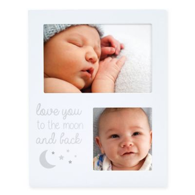 Pearhead® 2-Photo Moon and Back Collage Picture Frame in White