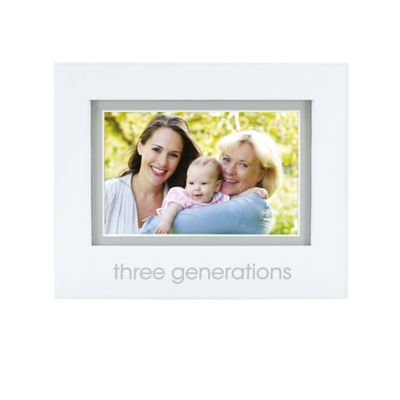 "Pearhead® ""3 Generations"" 4-Inch x 6-Inch Picture Frame in White"