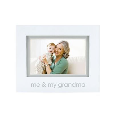 "Pearhead® ""Me and My Grandma"" 4-Inch x 6-Inch Picture Frame in White"