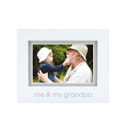 "Pearhead® ""Me and My Grandpa"" 4-Inch x 6-Inch Picture Frame in White"