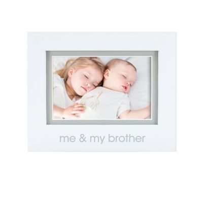 "Pearhead® ""Me and My Brother"" 4-Inch x 6-Inch Picture Frame in White"