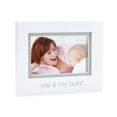 "Pearhead® ""Me and My Aunt"" 4-Inch x 6-Inch Picture Frame in White"