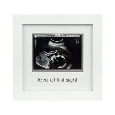 "Pearhead® ""Coming Soon"" Sonogram 4-Inch x 3-Inch Picture Frame in White"
