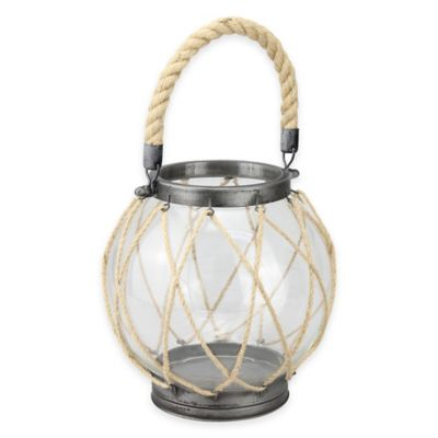 CKK Home Zinc and Twine Vintage Nautical Globe Lantern