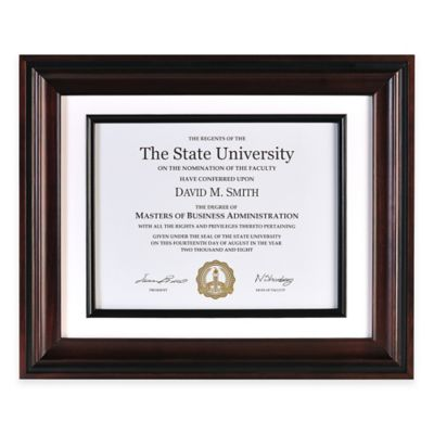 Artcare™ Recognition Document 8.5-Inch x 11-Inch Picture Frame in Black/Rosewood