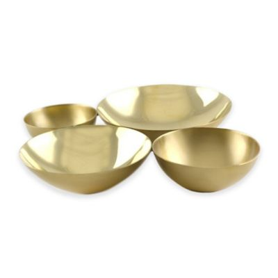 Brunei Cluster Square Bowl in Brass