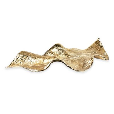 Rojo 16 Golden Decorative Leaf Figurine