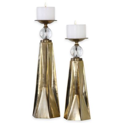 Uttermost Carlino Candleholders in Antique Bronze (Set of 2)