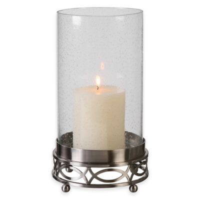 Brushed Nickel Candle Holders