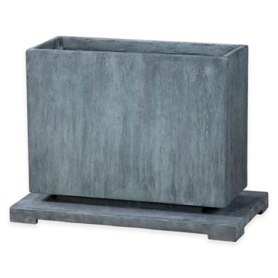 Uttermost Vito Planter in Slate Blue