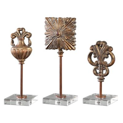 Uttermost Cesare Accessories in Gold (Set of 3)