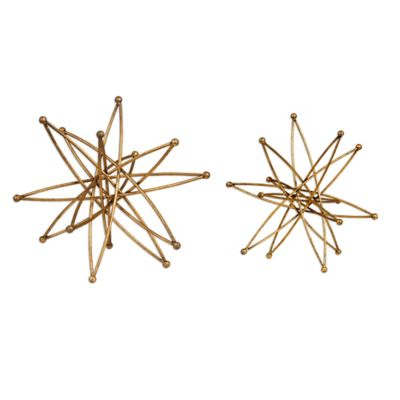 Uttermost Costanza Atom Accessories in Gold (Set of 2)