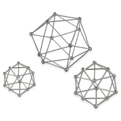 Uttermost Vitale Accessories in Silver (Set of 3)