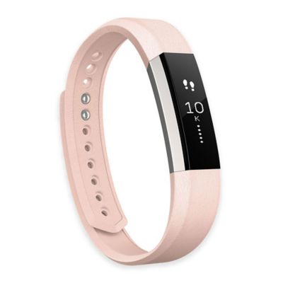 Fitbit™ Alta™ Large Leather Accessory Band in Pink