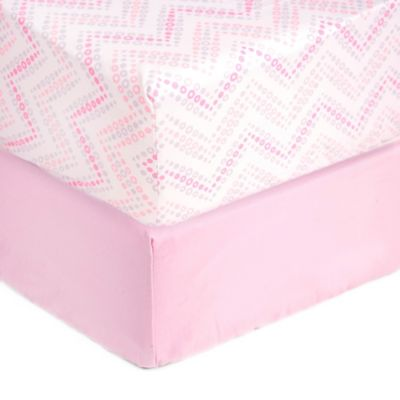 Sleeping Partners Tadpoles Microfiber Fitted Crib Sheets in Pink (Set of 2)