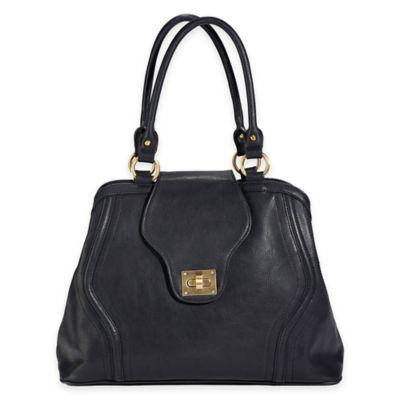 Newlie Gail Satchel Diaper Bag in Black