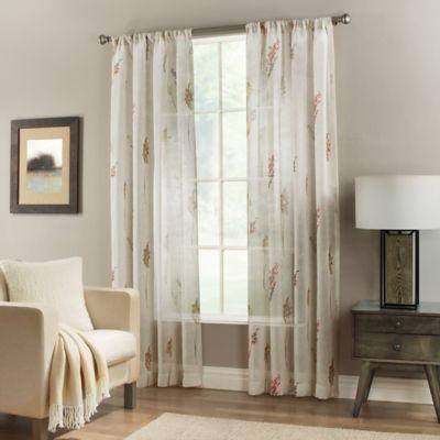 Springhill 63-Inch Rod Pocket Sheer Window Curtain Panel