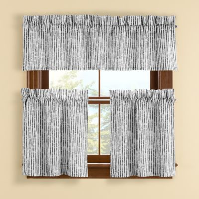 Boulder 24-Inch Window Curtain Tier Pair in Grey