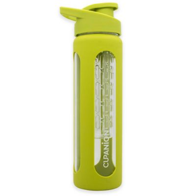 Quirky Cupanion® 18 oz. Glass Fruit Infuser Water Bottle in Green