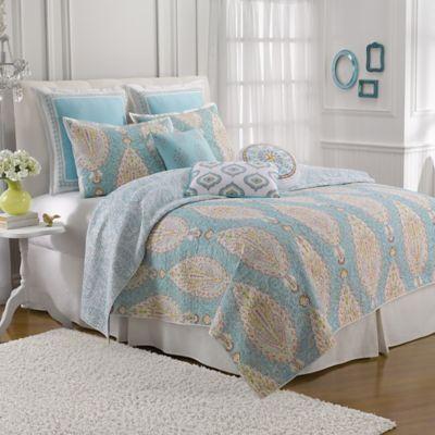 Dena™ Home Valentina King Quilt in Aqua