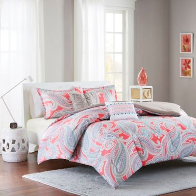Intelligent Design Paola 5-Piece Full/Queen Comforter Set in Pink